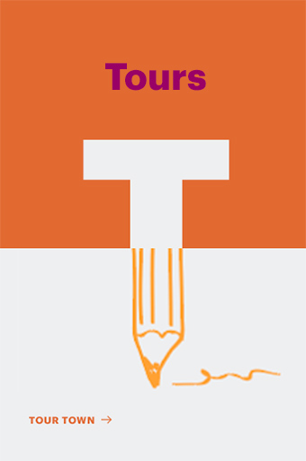 Tour town logo pencil